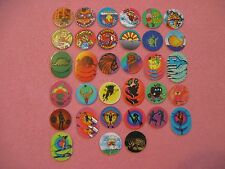Lot of 45 Various Milkcaps Pogs Bottle Caps Duck Dive Armadillo Zonin Out Fruit