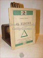 Joseph Conrad, IL TIFONE 1929 Delta Milano Romanzo a cura Gian Dauli