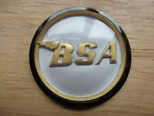 "60-4171 BSA A50 A65 A75 1 3/4"" SILVER / GOLD / BLACK TANK CENTRE ROUND BADGE"