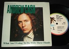 "ANDREW CASH   P/S 45 "" WHAT AM I GOING TO DO WITH THESE HANDS  "" 1980s POP"