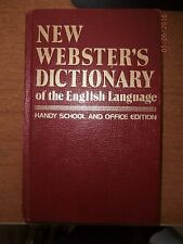NEW WEBSTER'S DICTIONARY OF THE ENGLISH LANGUAGE SCHOOL & OFFICE EDITION 1975