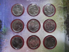 New Zealand 2003 LORD OF THE RINGS 9x 50 Cents UNC Coin Set Royal Mint folder