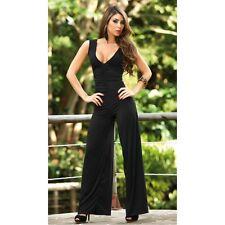 Sexy Clubwear Cocktail Dress Jumpsuit Black Spandex Figure flattering Medium