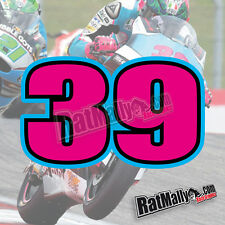 LUIS SALOM 39 MOTO2 MOTOGP RACE NUMBERS STICKERS DECALS x4 SMALL  20% TO CHARITY