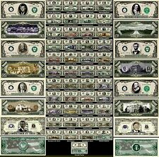 LOT X 45 BILLETS COLLECTION PRESIDENT des ETATS UNIS DOLLAR US ! AMERIQUE USA