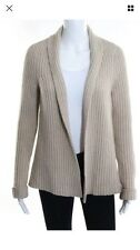 Lutz & Patmos Beige Chunky Wool Sweater Jumper Cardigan Jacket S Small