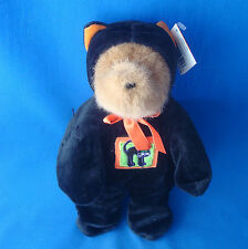 "10"" teddy bear wearing his Halloween black cat hoody suit GAC 1999"