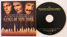 U2 'The Hands That Built America' Mexico 1-track promo CD Custom Picture Sleeve