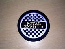 CLASSIC ROYAL ENFIELD CHECKERED EMBROIDERED PATCH-BULLET