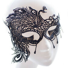 Halloween Black Peacock Eye Catching Mask Masquerade Ball Party Fancy Dress Gift