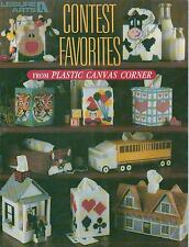 USED CONTEST FAVORITES TISSUE COVERS TRUCK TIGER PLASTIC CANVAS PATTERN BOOK