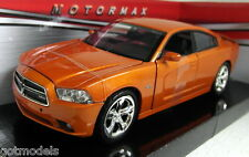 Motormax 1/24 Scale 73354 2011 Dodge Charger R/T Orange Diecast model car