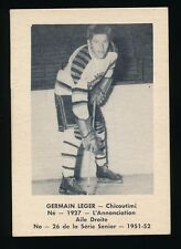 "1951-52 Laval Dairy (QSHL) #26 GERMAIN ""RED"" LEGER (Chicoutimi)"