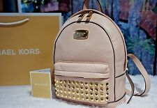NWT MICHAEL KORS Jet Set Item XS Gold-Tone STUDDED Backpack Leather BALLET $328