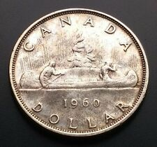 1960 SILVER $1 ONE DOLLAR CANADA **GREAT CONDITION** D109