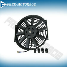 UNIVERSAL SLIM 12 INCH PULL PUSH RADIATOR ENGINE BAY COOLING FAN BLACK 12V