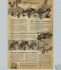1959 PAPER AD Hot Rod Race Car Racer Pedal Cars Jeep Tractone Tractor Police