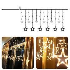 LED Stern Lichterkette Lichtervorhang Vorhang Hochzeits Weihnachtsbeleuchtung