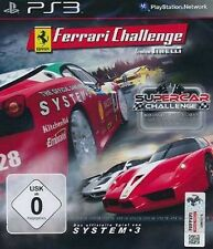 Playstation 3 racing double pack Ferrari Challenge + supercar CHALLENGE NEUF