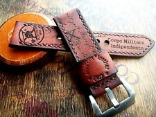 26mm Ammo Handmade leather watch strap army, Xª Flottiglia MAS tribut