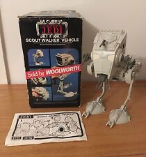Vintage Star Wars Scout Walker Vehicle At St Palitoy Bi Logo Box Woolworths Rare