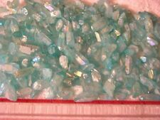 Aqua Aura quartz crystal drilled for necklace/pendant 1/2-1 inch 20 piece
