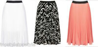 TOPSHOP  SPORT WAISTBAND PLEATED  MIDI SKIRT in THREE COLOUR SIZES 6-14