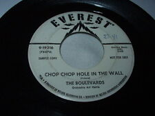 Doo Wop THE BOULEVARDS Chop Chop Hole in the Wall/Delores 45 Promo R&B Everest