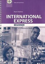 Oxford INTERNATIONAL EXPRESS 3rd Ed Beginner TEACHER'S Resource Book w DVD @New@