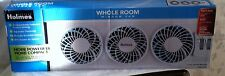 HOLMES 3 BLADE INDEPENDENTLY CONTROLLED SETTING WHOLE ROOM WINDOW FAN HWF0522M