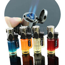 Triplets Jet Torch Lighter Refillable Windproof Flame Butane For Cigar Cigarette