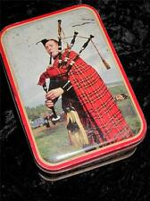 VINTAGE TOFFEE TIN, Edward Sharp & Sons Scottish Piper 1950s Late King George VI