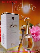 "Dior J'adore Eau De Parfum 5ml Miniature EDP Travel Size ""New In BOX ~ FREE SHIP"