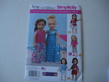 "New Simplicity 1178 Sewing Pattern for 18"" American Girl doll clothes purse"