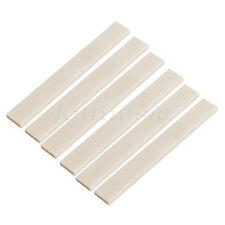 6pcs Vintage Buffalo Blanks Bone Saddle For Guitar Bass 80mmx10mmx4mm