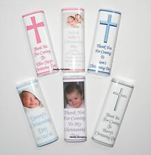 30 Personalised Christening Day Chocolate Bar WRAPPERS  Favours, Gifts