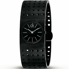 """Calvin Klein K8323302 Women's Grid Swiss Blk PVD Stainless Steel With 6.5"""" Band!"""