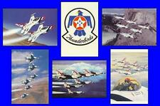 6 US Air Force Thunderbirds Postcards! Michael J. Cooney Paintings - New!