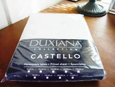 Sferra DUXIANA FITTED SHEET  210 x 200 CM  White ITALY - NEW!