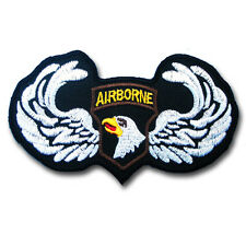 Airborne Division Paratrooper Military Camo Patch Iron On Vest Harley  Chopper