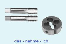 M12 x 1,25 ( Set ) Schneideisen MF + 2 tlg Handgewindebohrer Gewinde Feingewinde