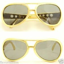 Gold Party Elvis Vegas Rock Star Pimp Disco Men Women Costume Shade Sunglasses