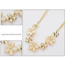 Adorable Opal Crystal Rhinestone Flower Sweater Chain Pendant Necklace Necessary