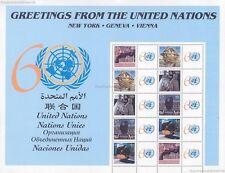 UNO NEW YORK - 2005 GRUSSMARKEN BOGEN 80c - 977-81 ** - S 6 - 60 JAHRE GREETINGS