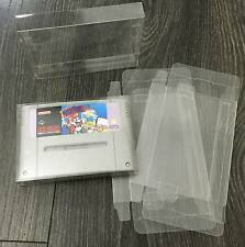 50x Super Nintendo SNES Game Cart Cartridge Box Protectors 0.3mm PET Plastic