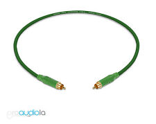 Mogami 2534 Quad Cable | Green Amphenol RCA to RCA | Green 1 Foot 1 Ft. 1'