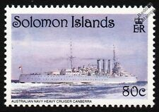 HMAS CANBERRA (D33) Heavy Cruiser Warship Stamp (WWII Savo Island, Guadalcanal)