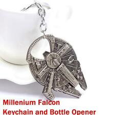 Star Wars Millennium Falcon Keychain Ring Keyring Bottle Opener