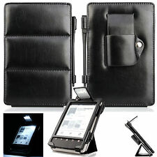 LEATHER CASE COVER WITH BUILT IN LED LIGHT For SONY PRS T1 T2 + SCREEN PROTECTOR