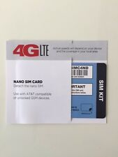 TRACFONE NANO SIM CARD AT&T NETWORK FITS IPHONE 5, 5S, 5C, 6, 6+, 6S